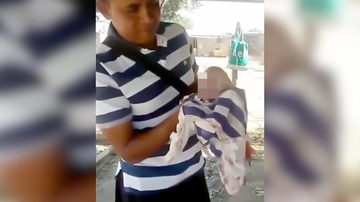 人の顔をした子豚が撮影される(動画)