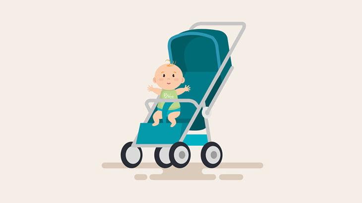 赤ちゃんを乗せたベビーカーが転倒 → タイミング悪くトラックが通過した結果・・・(動画)