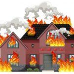 火事が起きた部屋から子供だけを落として助ける映像