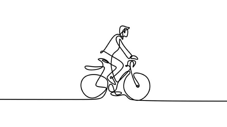 【閲覧注意】自転車に乗っていた男、トラックのタイヤで頭が破裂してしまう・・・(動画)