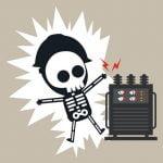【閲覧注意】電線に触れて感電する男、頭を切断されてしまう・・・(動画)