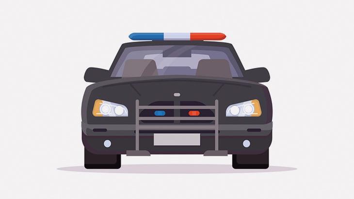 パトカーに乗っていた警察官が銃で撃たれてしまう車載カメラ映像