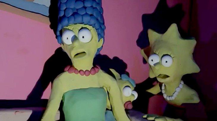 「ザ・シンプソンズ」のキャラクターが惨殺されていくクレイアニメ