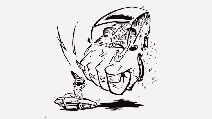 煽り運転Lv.100の男に絡まれるとこうなる(動画)