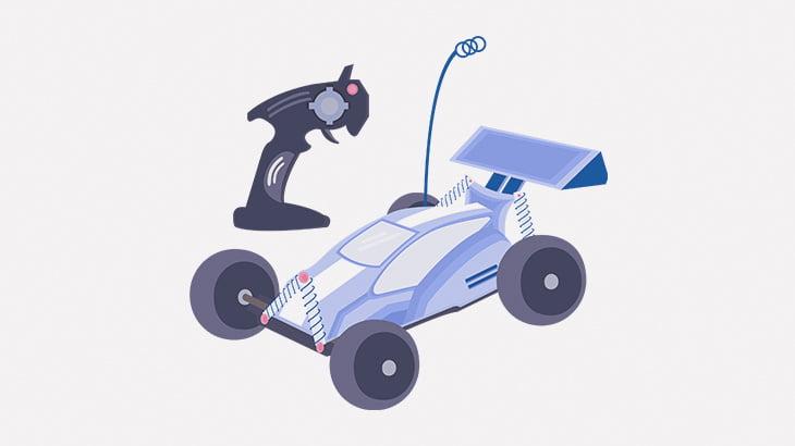 ラジコンカーに轢かれた男、一回転してしまう(動画)