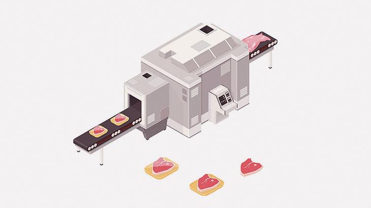 【閲覧注意】スーパーに並ぶ肉はこうやって作られる・・・(動画)