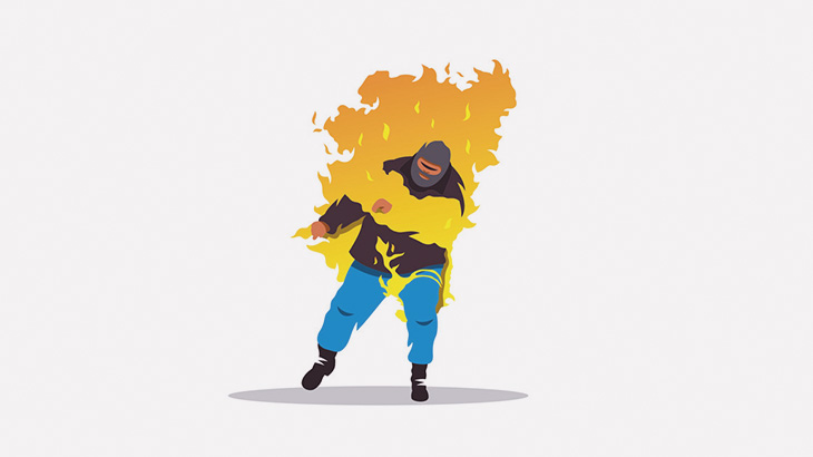 レイプ犯の男、住民たちに生きたまま何度も燃やされてしまう(動画)