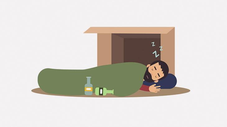 【閲覧注意】ホームレスの男性、森で寝ていただけなのに殺されてしまう・・・(動画)