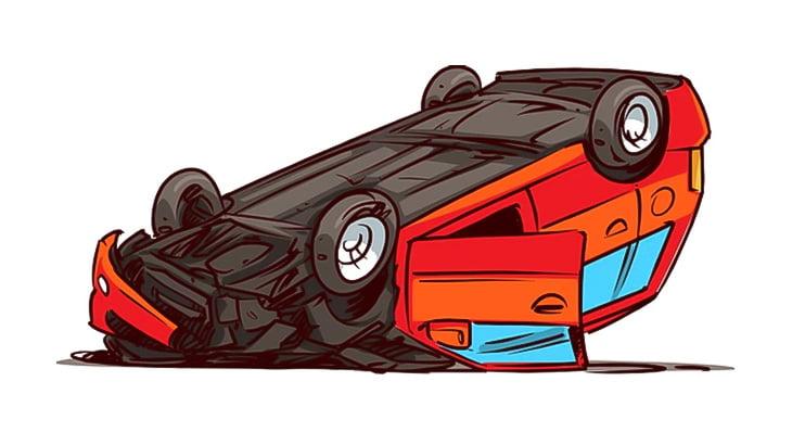 【閲覧注意】事故った車のすぐそばに切断された頭が転がってるんだけど・・・(動画)