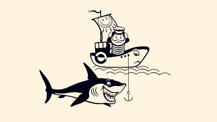 【閲覧注意】漁師さん、ホホジロザメに左腕を食われてしまう・・・(動画)