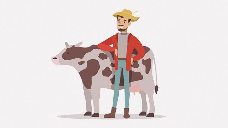 牛を連れた農夫さん、線路を横断しようとして電車に轢かれてしまう(動画)