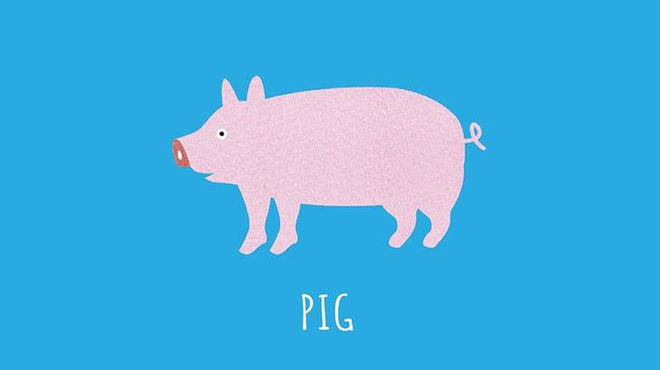【閲覧注意】豚の頭を一刀両断する男(動画)