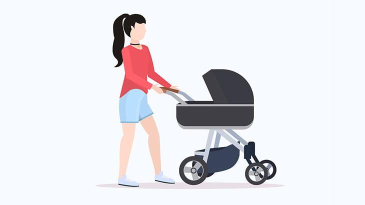 ベビーカーから赤ちゃんが転落したことに気づかない母親、赤ちゃんが車に轢かれても気づかない・・・(動画)