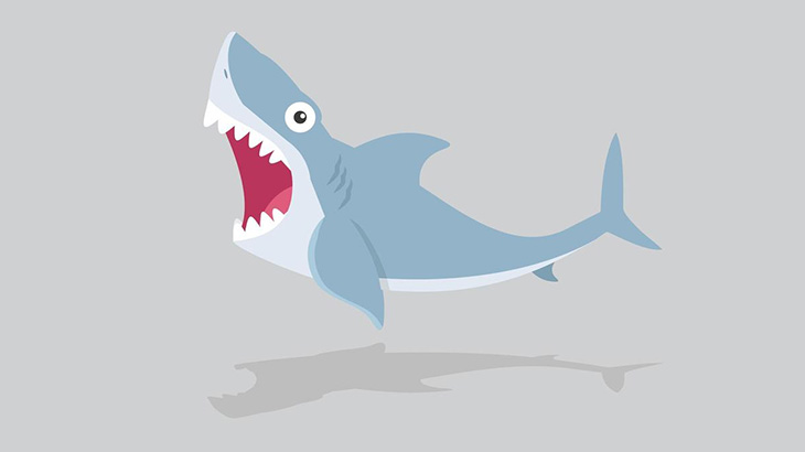 小さいサメさん、大きいサメに尾ビレを食われてしまう(動画)