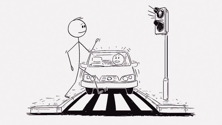 【閲覧注意】赤信号なのに横断歩道を渡ろうとした女性、トラックに轢かれて死亡・・・(動画)