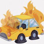 【閲覧注意】走行中に炎上した車のドライバー、消火活動も虚しく焼死・・・(動画)