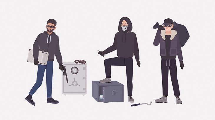 【閲覧注意】4人組の窃盗団の男たち、右手を切断されてしまう(動画)