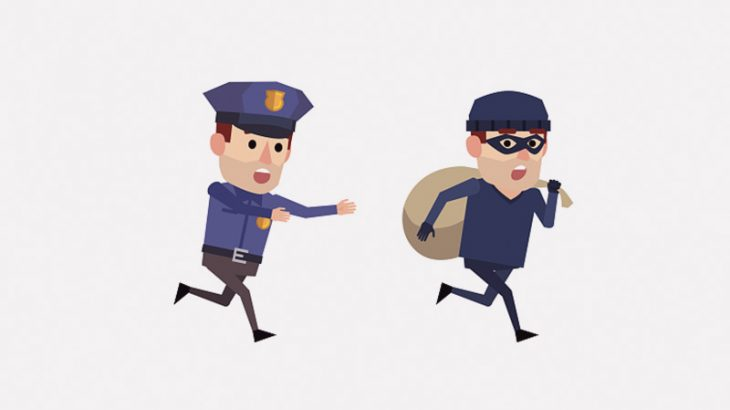 警察官と犯人によるやる気が無さすぎる逃走劇(動画)