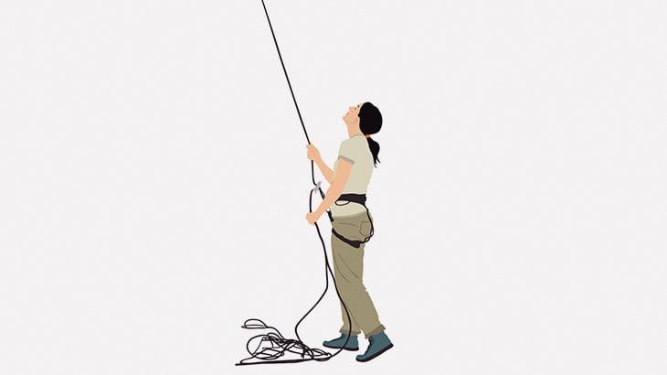 男女のロッククライマーさん、ロープに宙吊りのままセックスしてしまう(動画)