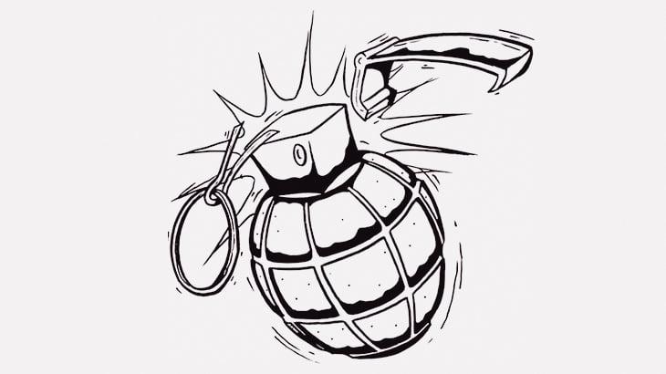 ギャングさん、手榴弾を投げるのが遅すぎた結果(動画)