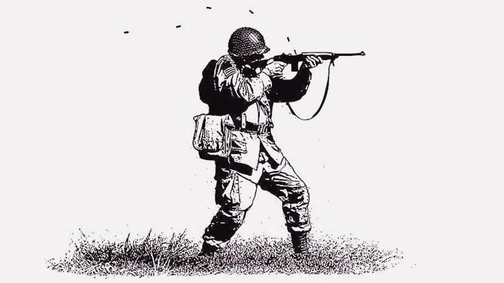 戦場でアドレナリンが出まくる兵士(動画)