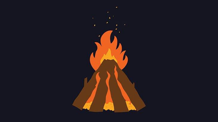 酔っ払った男、焚き火を飛び越えようとして火炙りになってしまう(動画)
