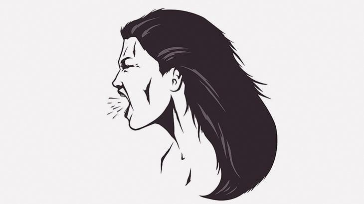 喚き散らす女さん、思いっきり殴られてノックアウト(動画)