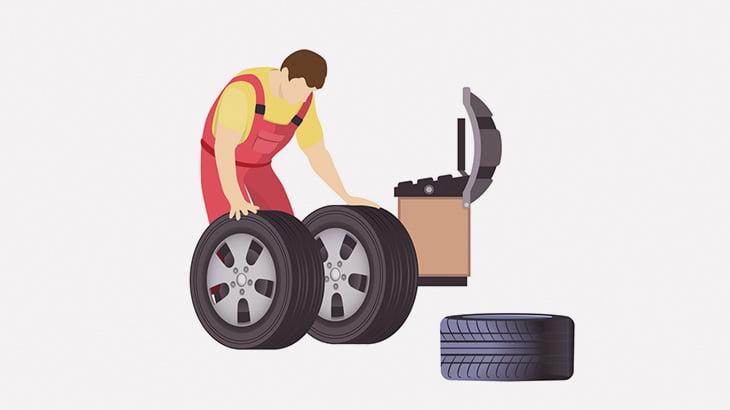 【閲覧注意】整備士の男性、タイヤの爆発で頭が割れてしまう・・・(画像)
