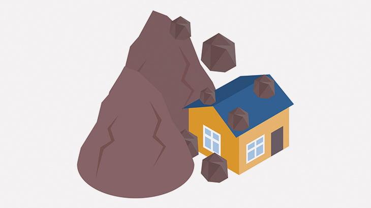 山の近くに建てられていた家、大規模な地滑りで潰されてしまう(動画)