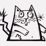 ネコさん、感電してアニメみたいな動きをしてしまう(動画)