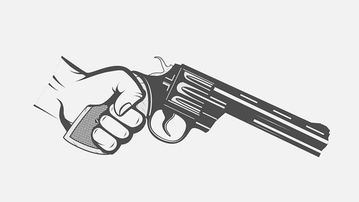結婚式で酔っ払った男、自分の手のひらを銃で撃ち抜いてしまう(動画)