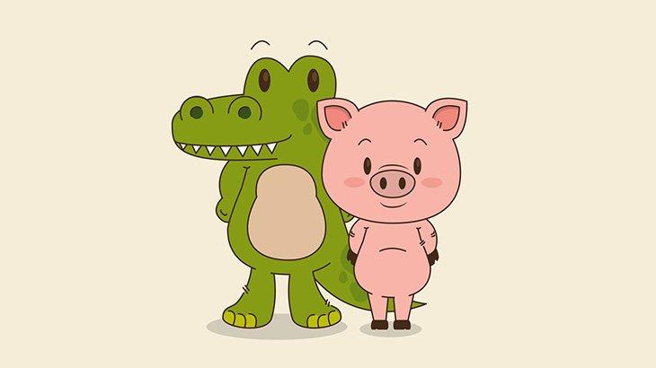 ワニの檻に入れられた豚、パニックになりながら食われてしまう(動画)