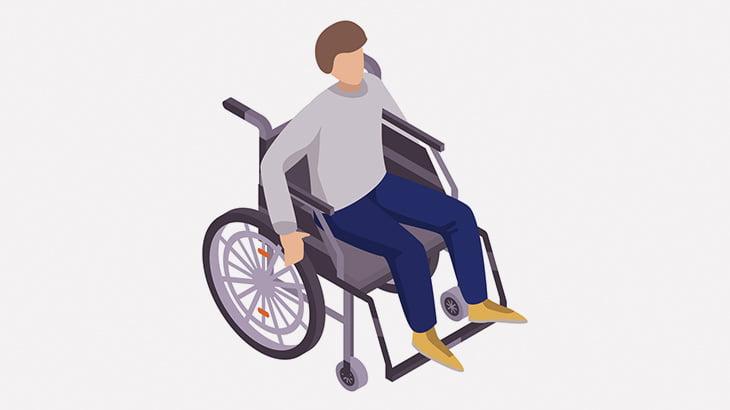 車椅子の男性、車に弾かれてしまう(動画)