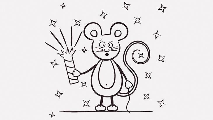 ネズミをロケット花火で飛ばして爆破する男たち(動画)