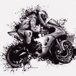 バイクツーリング中、転倒する仲間を見てテンション上がる男(動画)