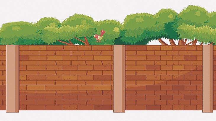 塀の壁を蹴っていた男、脚を挟まれてしまう(動画)