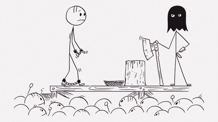 【閲覧注意】動物の屠殺のように首をナイフで切られて殺される男(動画)