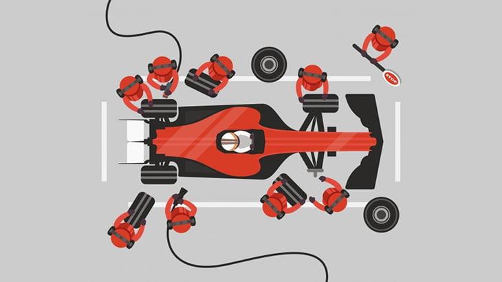 F1レースのメカニックさん、タイヤ交換に手間取って足を轢かれてしまう(動画)