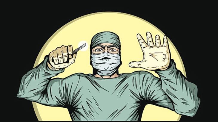 【閲覧注意】異様に腫れ上がったチンチンの手術映像