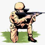 隠れながら銃を撃っていた男、左手を撃ち抜かれてしまう(動画)