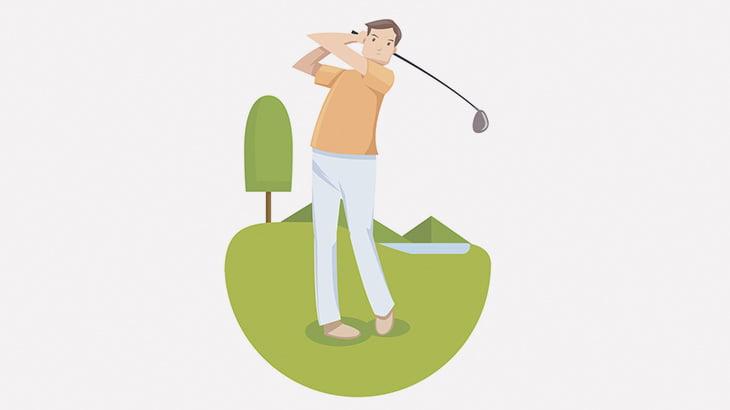 住宅街でゴルフしてた男、ボールをパトカーに当ててしまう(動画)