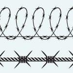 なぜか有刺鉄線の柵を乗り越える男女(動画)