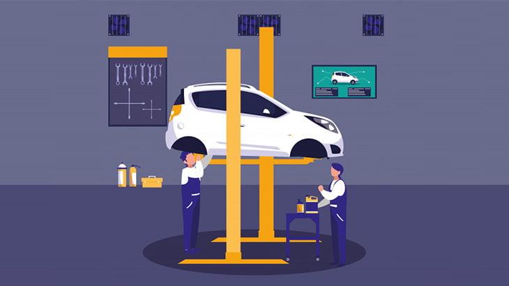 自動車整備士さん、修理中の車を燃やしてしまう(動画)