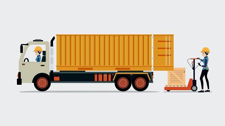 最大積載量をオーバーしたトラック、ちょっとしたカーブすら曲がれない(動画)