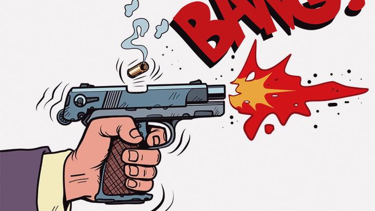 【閲覧注意】銃で撃たれた身体から噴水のように血が流れ出る男(動画)