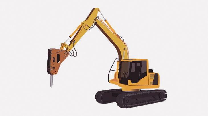 掘削機で家を破壊 → 弾け飛んだコンクリブロックが男性の頭にぶつかって死亡(動画)