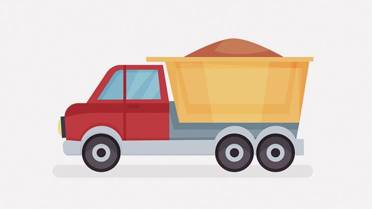 土砂を積んでたトラック、急ブレーキの遠心力で前の車両にぶっかけてしまう(動画)