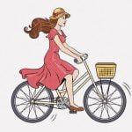 この自転車の女性、あまりにも周りを見てなさすぎる・・・(動画)