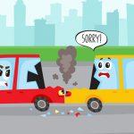バイカーさん、後ろからトラックに弾き飛ばされてしまう(動画)