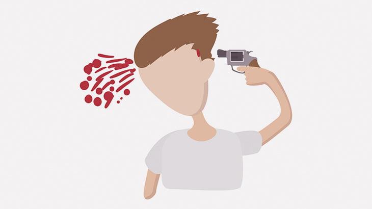 友人が撮影するカメラの前で銃で自殺する男(動画)